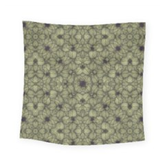 Stylized Modern Floral Design Square Tapestry (small)