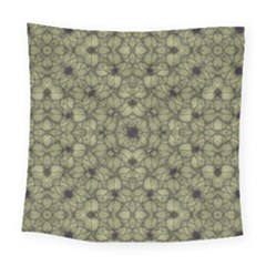 Stylized Modern Floral Design Square Tapestry (large)