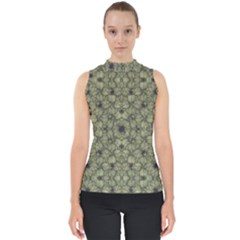 Stylized Modern Floral Design Shell Top