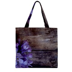 Lilac Zipper Grocery Tote Bag