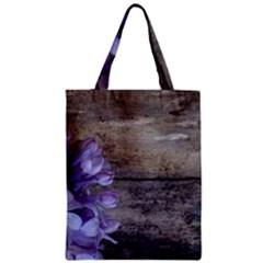 Lilac Zipper Classic Tote Bag