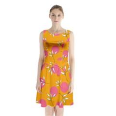 Playful Mood Ii Sleeveless Waist Tie Chiffon Dress