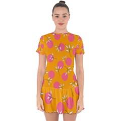 Playful Mood Ii Drop Hem Mini Chiffon Dress