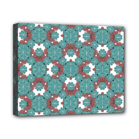 Colorful Geometric Graphic Floral Pattern Canvas 10  X 8