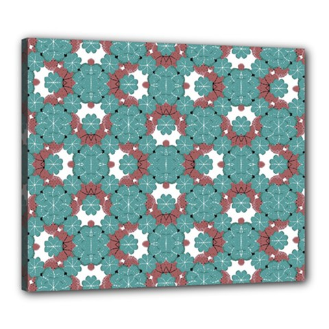 Colorful Geometric Graphic Floral Pattern Canvas 24  X 20