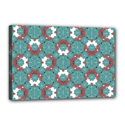 Colorful Geometric Graphic Floral Pattern Canvas 18  X 12