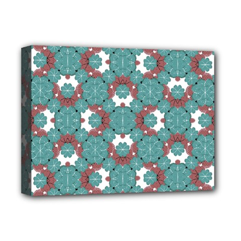 Colorful Geometric Graphic Floral Pattern Deluxe Canvas 16  X 12