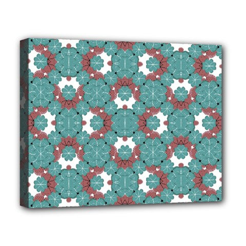Colorful Geometric Graphic Floral Pattern Deluxe Canvas 20  X 16