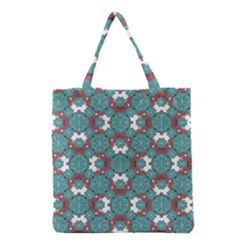 Colorful Geometric Graphic Floral Pattern Grocery Tote Bag