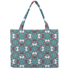 Colorful Geometric Graphic Floral Pattern Mini Tote Bag