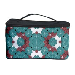 Colorful Geometric Graphic Floral Pattern Cosmetic Storage Case