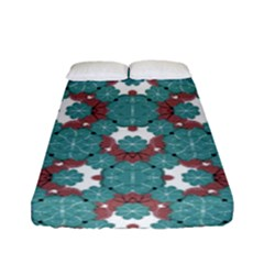 Colorful Geometric Graphic Floral Pattern Fitted Sheet (full/ Double Size)