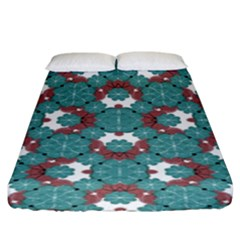 Colorful Geometric Graphic Floral Pattern Fitted Sheet (king Size)
