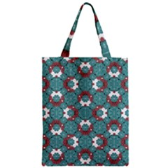 Colorful Geometric Graphic Floral Pattern Zipper Classic Tote Bag