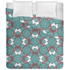 Colorful Geometric Graphic Floral Pattern Duvet Cover Double Side (california King Size)