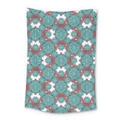 Colorful Geometric Graphic Floral Pattern Small Tapestry