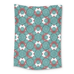Colorful Geometric Graphic Floral Pattern Medium Tapestry