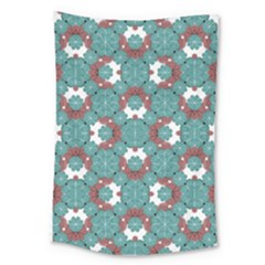 Colorful Geometric Graphic Floral Pattern Large Tapestry