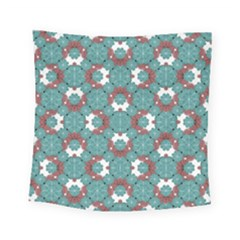 Colorful Geometric Graphic Floral Pattern Square Tapestry (small)