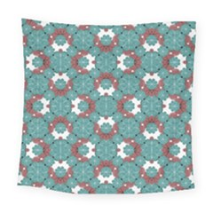 Colorful Geometric Graphic Floral Pattern Square Tapestry (large)