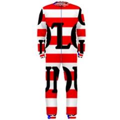 Plott Hound Name On Flag Onepiece Jumpsuit (men)
