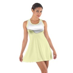 Puli Silhouette Cream Cotton Racerback Dress