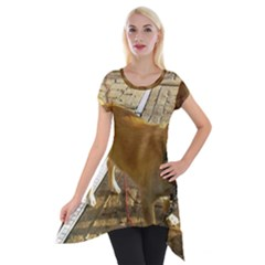 Podengo Pequeno Full Short Sleeve Side Drop Tunic