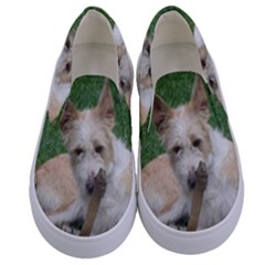 Podengo Portugues Laying Kids  Canvas Slip Ons