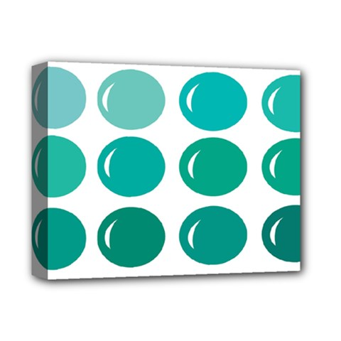 Bubbel Balloon Shades Teal Deluxe Canvas 14  X 11