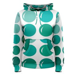 Bubbel Balloon Shades Teal Women s Pullover Hoodie