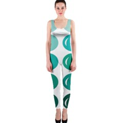 Bubbel Balloon Shades Teal Onepiece Catsuit