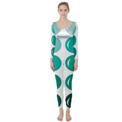 Bubbel Balloon Shades Teal Long Sleeve Catsuit