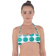 Bubbel Balloon Shades Teal Halter Bandeau Bikini Top