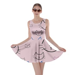 Cat Pattern Face Smile Cute Animals Beauty Skater Dress