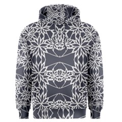 Blue White Lace Flower Floral Star Men s Pullover Hoodie