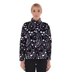 Circle Polka Dots Black White Winterwear