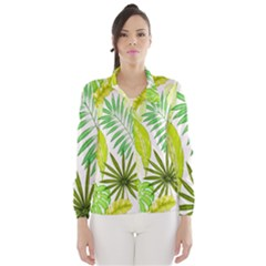 Amazon Forest Natural Green Yellow Leaf Wind Breaker (women)