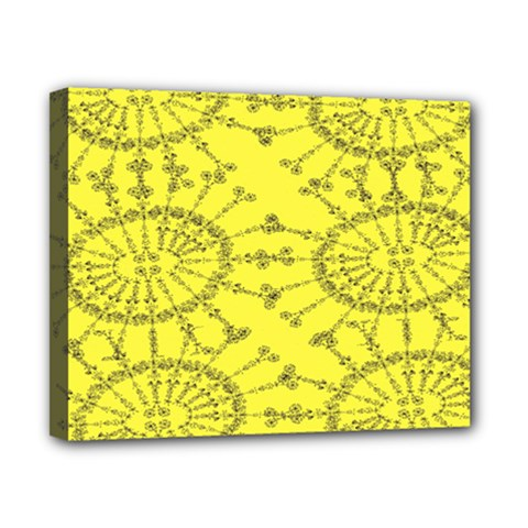 Yellow Flower Floral Circle Sexy Canvas 10  X 8