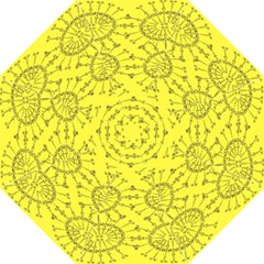Yellow Flower Floral Circle Sexy Folding Umbrellas