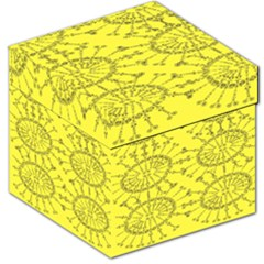 Yellow Flower Floral Circle Sexy Storage Stool 12