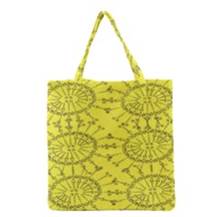 Yellow Flower Floral Circle Sexy Grocery Tote Bag