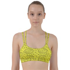 Yellow Flower Floral Circle Sexy Line Them Up Sports Bra