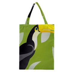 Cute Toucan Bird Cartoon Fly Yellow Green Black Animals Classic Tote Bag