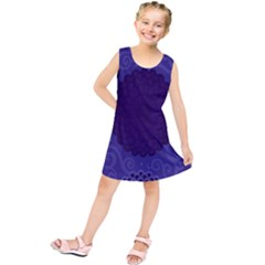 Flower Floral Sunflower Blue Purple Leaf Wave Chevron Beauty Sexy Kids  Tunic Dress