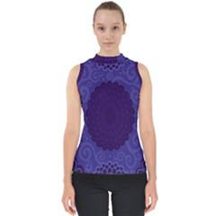 Flower Floral Sunflower Blue Purple Leaf Wave Chevron Beauty Sexy Shell Top