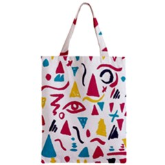 Eye Triangle Wave Chevron Red Yellow Blue Zipper Classic Tote Bag
