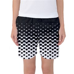 Gradient Circle Round Black Polka Women s Basketball Shorts