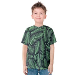 Coconut Leaves Summer Green Kids  Cotton Tee