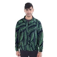 Coconut Leaves Summer Green Wind Breaker (men)