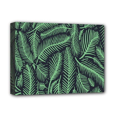 Coconut Leaves Summer Green Deluxe Canvas 16  X 12